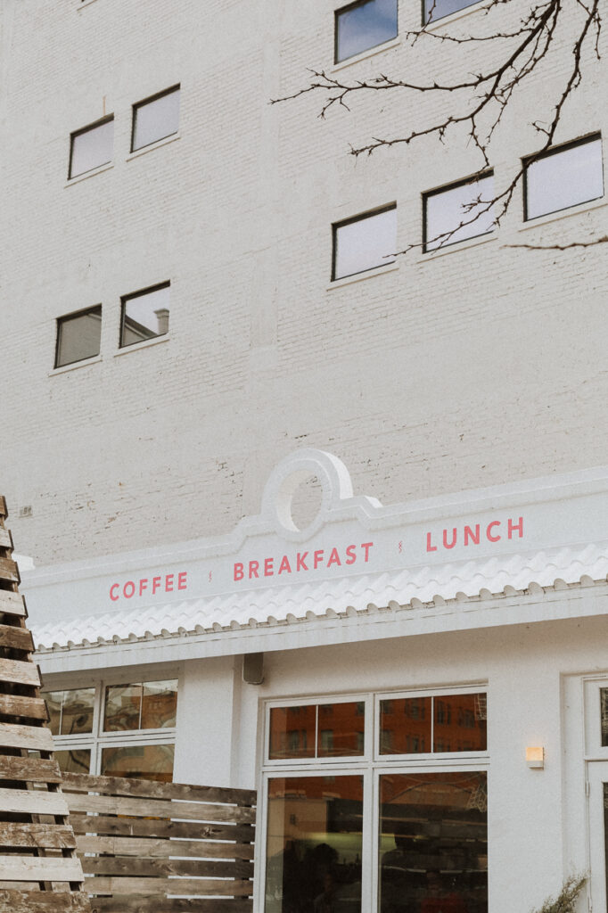 cheapside cafe exterior all white